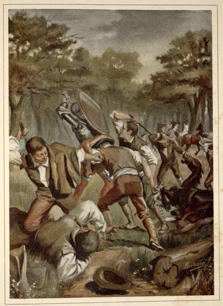 El Quijote episodio de los Yangueses en libro de 1898