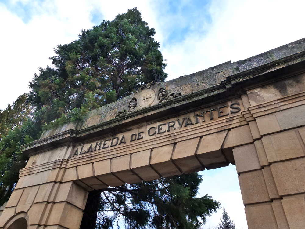 Placa Alameda de Cervantes en Soria