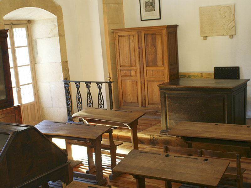 Interior del aula del poeta