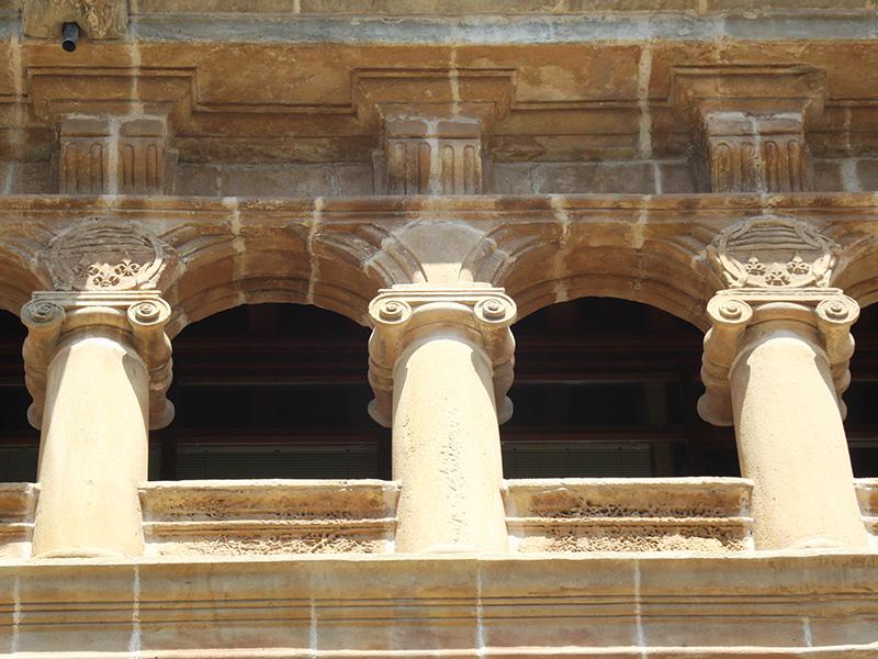 Arcos superiores del Palacio de los condes de Gómara