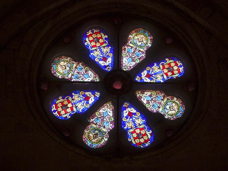Rosetón iglesia de Santo Domingo