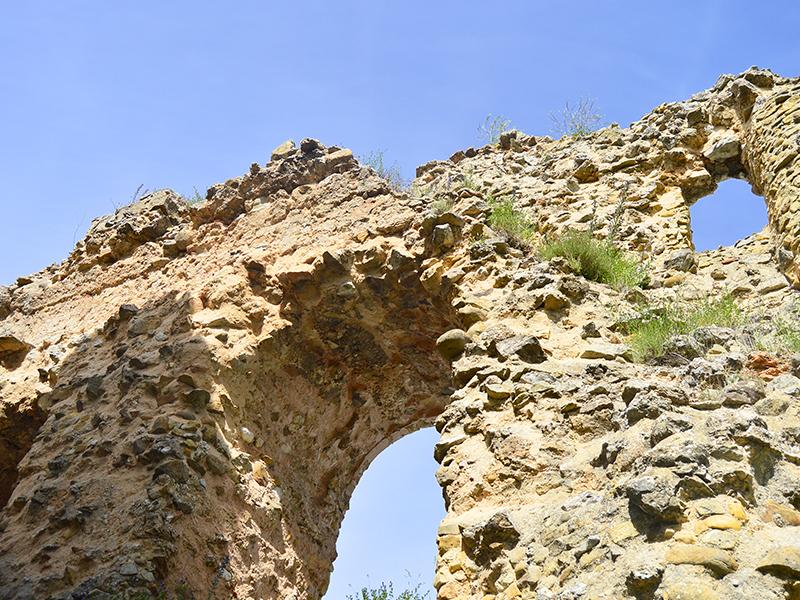 Detalle ruinas Castillo de Soria