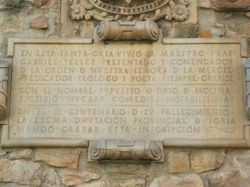 Inscripción Tirso de Molina