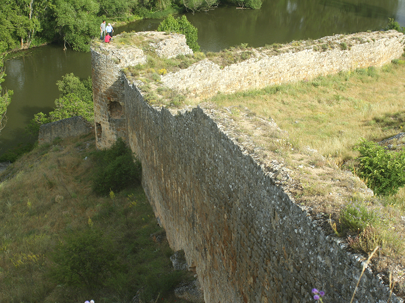 Parte superior de la muralla