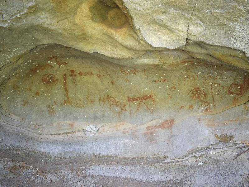 Pinturas rupestres en el monte Valonsadero