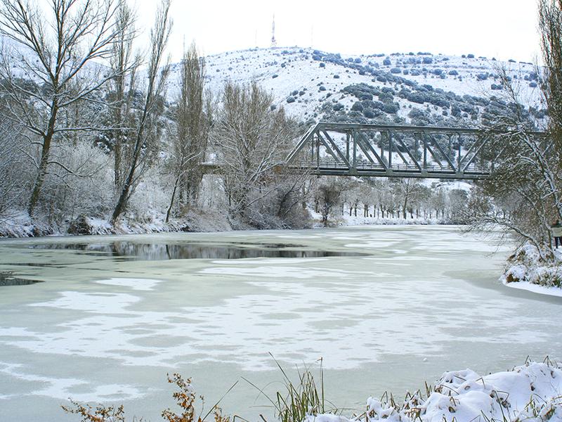 Puente de Hierro en invierno