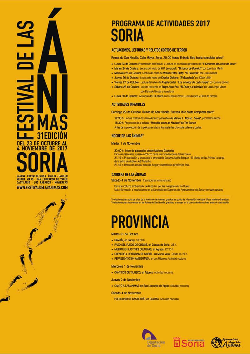 Programa del Festival de las Ánimas 2017