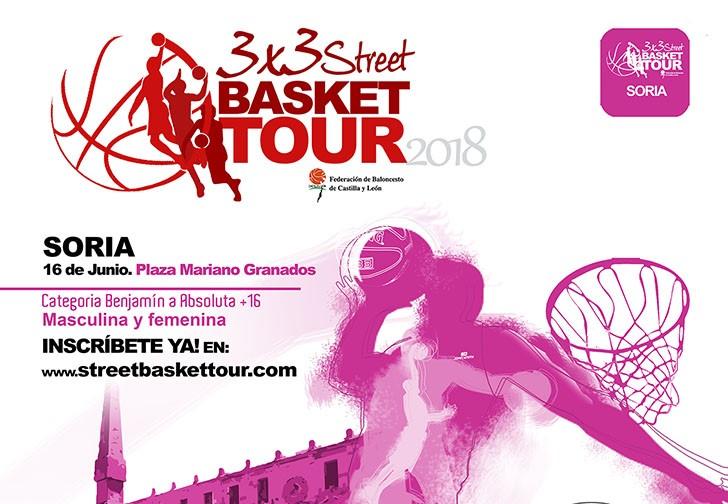 El 3x3 Street Basket Tour recala en Soria el 16 de junio con partidos clasificatorio para la final de Salamanca y el circuito oficial FIBA
