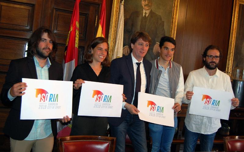 La candidatura de Soria como ciudad europea del deporte ya tiene logo y como embajadores de lujo a Daniel Mateo, Dani Berná y Marta Pérez