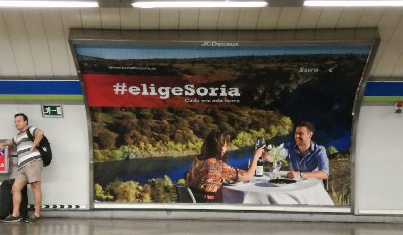 La campaña #eligeSoria llega a 20 estaciones de metro en Madrid durante el mes de septiembre