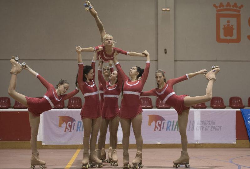 El I Campeonato Ciudad de Soria de patinaje artístico roza los 200 competidores de 20 clubes