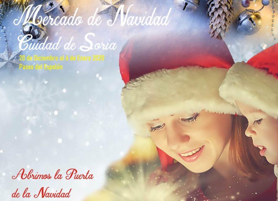 El mercado del Espolón se abre al público con una imagen renovada y más navideña